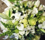White & Green Hand Tied Bouquet