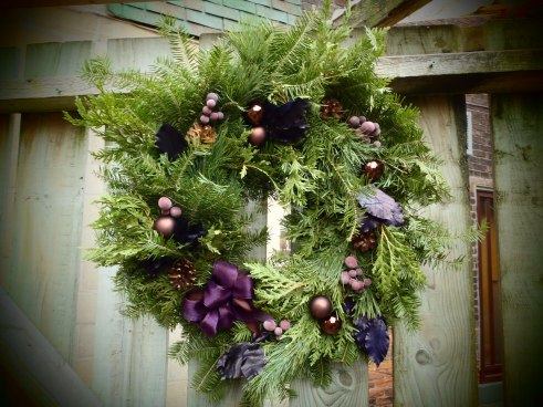 A wreath to add richness and warmth to your door.